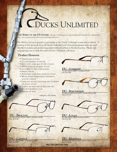 Ducks Unlimited Optical Sales Sheet